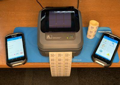 Printing of barcodes