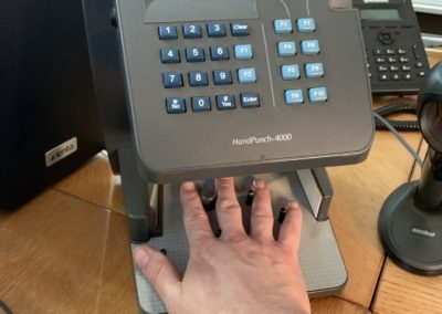 Time Management Biometric Hand Reader